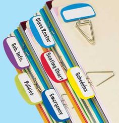 quick find label clips