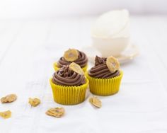 Banana and chocolate cupcakes recipe