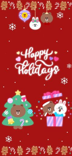 Merry Christmas, Xmas, Christmas Ornaments, Cony Brown, Matching Wallpaper, Friends Wallpaper, Line Friends, Snoopy, Kawaii
