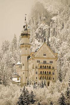 Winter at the Neuschwanstein Castle,