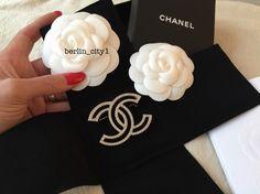 Original Chanel Brosche Gold Strass Groß Luxus - kleiderkreisel.at