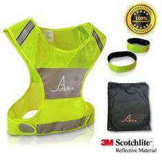 M//L MIR REFLECTIVE SAFETY VEST BIKING RUNNING JOGGING-FOR BOTH MEN/&WOMEN-SIZE