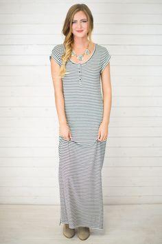 Toluca Stripe Maxi Dress from Maude