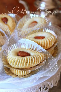 Pastry Recipes, Cake Recipes, Dessert Recipes, Cooking Recipes, Biscuit Cookies, Chip Cookies, Moroccan Desserts, Ramadan Desserts, Elegant Cookies