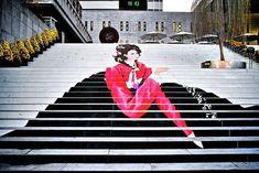 Street Art - Des escaliers très colorés - Le Théâtre musical à Séoul - Corée du Sud