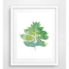 Green leaf print, printable leaf, leaf print, watercolor leaf, leaf... (€4,58) ❤ liked on Polyvore featuring home, home decor, wall art, leaf wall art, leaf home decor, green home decor, watercolor wall art and green wall art