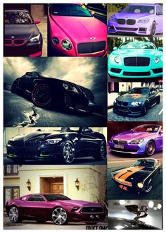 Bentley bmw mustang colourful awesome sportscar