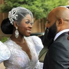 The headpiece, the wedding style, the gorgeous couple! Everything about this photo by @alakijastudios is stunning ✨ #munaluchi #munaluchibride  Posted via • @bridalstylesboutique How stunning is this vow renewal!!! LOVE should be celebrated again and again!💗💗 Custom crystal headpiece and veil by @BridalStylesBoutique  Photo @alakijastudios . #celebratelove #beautifulbride #couturebride #custombridal #bridalbling #bridalbeauty #bridalaccessories #bridalstyle #bridalcomb #bridalheadpiece… Wedding Dress Trends, Gorgeous Wedding Dress, Beautiful Bride, Wedding Dresses, Bridal Beauty, Bridal Hair, Hair Wedding, Wedding Collage, Bride Gowns