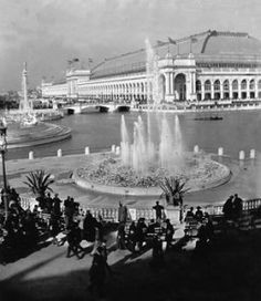 #RealChicago #Chicago #history #1900s #blackandwhite #WorldsFair #Fountain