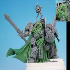 Dark Angels Grand MAster by Semimini on DeviantArt Warhammer Dark Angels, Dark Angels 40k, Warhammer 40k Art, Warhammer Models, Warhammer 40k Miniatures, Sculpting Tutorials, Space Wolves, Space Marine, Drawings