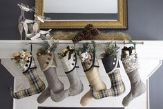 Curtain Rod to hang stockings...perfect for having a home w/ no fireplace mantle.