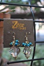 Zevar by Treska Crystal Dangle/Drop Hook Earrings Mutli-Color