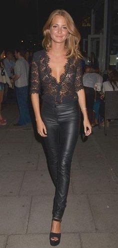 all black lace + leather leggings ultimate sexy outfit adb61781c2