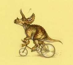 Tricycling Triceratops <3    (http://himmapaanensis.blogspot.com/2012/01/tricycling-triceratops.html)