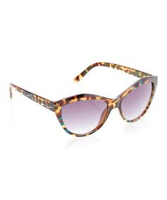 Another great find on #zulily! Brown Tortoise Cat-Eye Sunglasses by Betsey Johnson #zulilyfinds