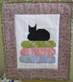 paper piecing cat