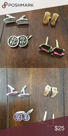 Vintage Cuff Links. Set of 3 3Pair of Vintage cuff Links. Sold together for $25 separately for $12 per pair. Accessories Cuff Links