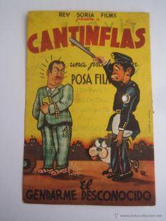 el gendarme desconocido cantinflas folleto de mano troquelado movil original estreno con cine impre