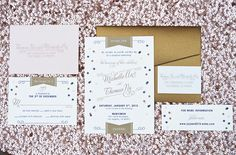 Downtown L.A. Wedding | Marvimon House | modern wedding invitation  | photos by Braedon Flynn | 100 Layer Cake