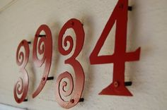 how about some red house numbers  these are totally fun-- wonder if they have my #