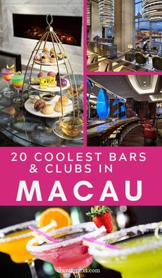 Macau Nightlife - 20 Cool Bars and Clubs. This is partly due to the Portuguese influence, as the former colonial ruler imported a fondness for wine as well as Mediterranean food, so nowadays few respectable hotels or restaurants lack a well-stocked cellar. #macau #china #macautravel #travel #drinks #nightlife #hotels #restaurants