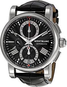 867a68262 Montblanc Men's 102377 Star Chronograph Watch Fancy Watches, Cool Watches, Men's  Watches, Armani