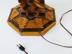 Cosecha mediados siglo arte popular dos tonos por TheLampEmporium