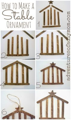 How to Make a Nativity Stable Ornament - Adventures of a DIY Mom