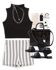 """""""Outfit for a date"""" by ferned on Polyvore featuring Topshop, Zara, Kate Spade, Yves Saint Laurent and Forever 21"""
