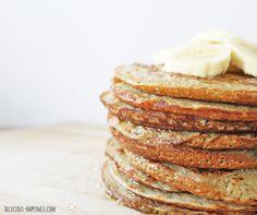 Une recette express et trés facile de Pancakes gourmands, 100% végétales et sans gluten !