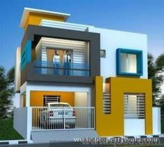 Very Small Double Storied House House Elevation Indian