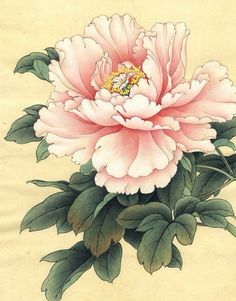 asian floral art at DuckDuckGo Oriental Flowers, Chinese Flowers, Japanese Flowers, Japanese Art, Peony Painting, Watercolor Flowers, Watercolor Paintings, Art Paintings, Art Floral