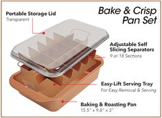 Bake & Crisp is the nonstick individual serving baking tray | Copper Chef Bake & Crisp Pan™