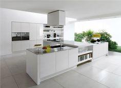 Muebles de cocina linea moderna color blanco
