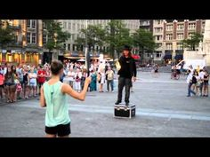 Street Performer Catches Knife But Not By The Handle - http://streetiam.com/street-performer-catches-knife-but-not-by-the-handle/