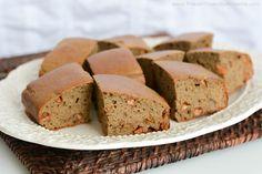Peanut Butter Honey Protein Cake #healthy #dessert #recipe #protein #cake