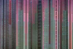 """""""Architecture of Density"""" photographs of high density housing in Hong Kong by Michael Wolf"""