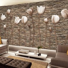 [Visit to Buy] Large Wall Murals Photo Wallpaper Flower for Living Room TV Background Wall Paper Floral papel para pared CustomerAvikalp Pearl tulips Photo wallpaper for walls papel de parede Mural Art Living Room HotelModern Custom Any Size Mural Embosse 3d Wallpaper Kitchen, 3d Wallpaper For Bedroom, 3d Wallpaper For Walls, Photo Wallpaper, Wallpaper Designs, Wallpaper Ideas, Flower Wallpaper, 3d Wall Murals, 3d Wall Art