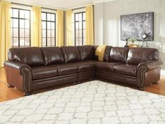SHELTON-3pcs-OLD-WORLD-GENUINE-LEATHER-LIVING-ROOM-SOFA-COUCH-SECTIONAL-SET
