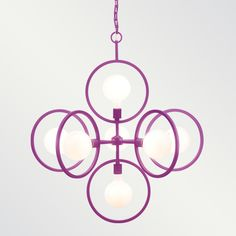 Doucet Powder Coated Chandelier_Shine by S.H.O  additional powder coat finishes too!