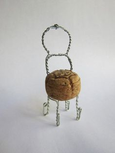 miniature chair from champagne cork