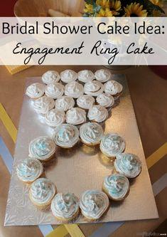 Bridal Shower Cake Idea - Engagement Ring Cake - Little Miss Kate Bridal Shower Tables, Bridal Shower Decorations, Bridal Shower Gifts, Bridal Nails French, Bridal Chura, Ring Cake, Disney Bridal Showers, Love Cake, Vintage Bridal