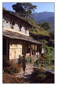 Nepalese house, Annapurna, Nepal