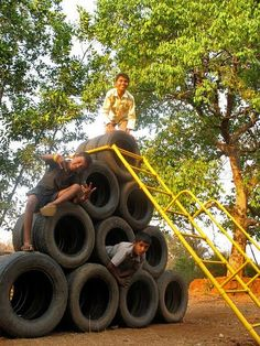 Recycled Play Structures Bring Joy to Schools in Rural India : TreeHugger