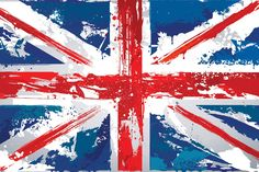 Painted Union Jack Wall Mural, custom made to suit your wall size by the UK's No.1 for wall murals. Custom design service and express delivery available.