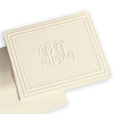 Duet Monogram Note Cards