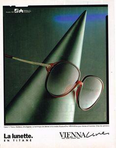 Publicite Advertising 054 1986 Vienna Line Collection Lunettes 2 | eBay