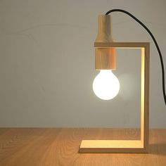 wooden lamps - Google Search                                                                                                                                                                                 Más