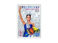 COLLECTORZPEDIA Miss Universe 2015 - Pia Alonzo Wurtzbach Miss Universe 2015, Philippines, Stamps, Cover, Beautiful, Seals, Postage Stamps, Stamp