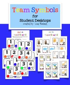 Team Symbol Cards for Student Desktops (organize your students / use them to group students quickly etc.) $